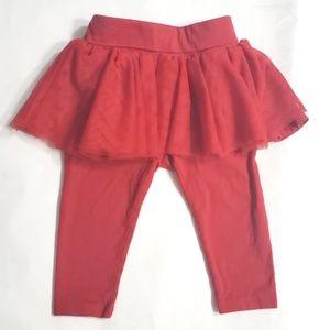 Baby Gap Ruby Red Tutu Leggings 6-12 Months